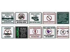 Information signs (recycled)