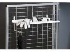 Hanging shelf for lockers<br>for batteries or other accessories