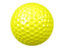 DUO golf ball 2-piece Yellow<br>plain (no print) - 300 pcs/carton