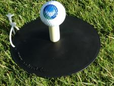 No Divot winter tee-up base<br>Ø 155 mm incl. string