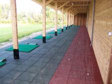 Comfort rubber range tile<br>50 x 50 x 3 cm RED