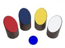 Log tee marker half size - Blue<br>