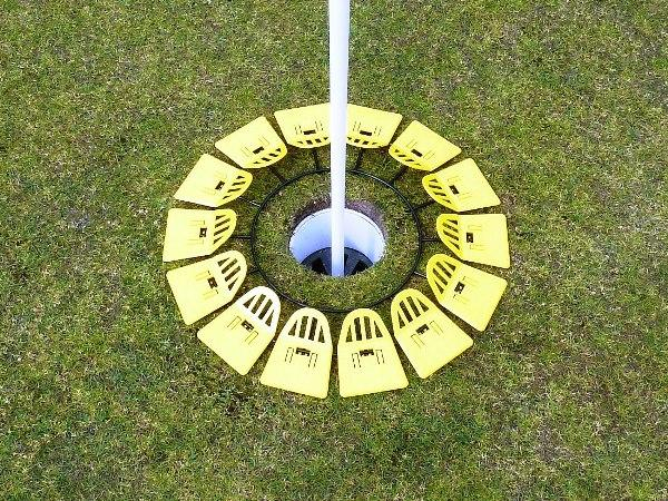 Quiccup® small 8 inch - yellow<br>www.Quiccup.com | Big Holes Golf