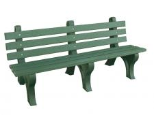Back bench 183 cm - Greenline<br>Green