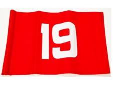 Single flag Nylon No. 19<br>Red/white tube-lock (1 pc)