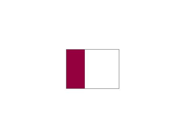 Two tone nylon flags WHITE<br>with maroon tube (set of 9 pcs)