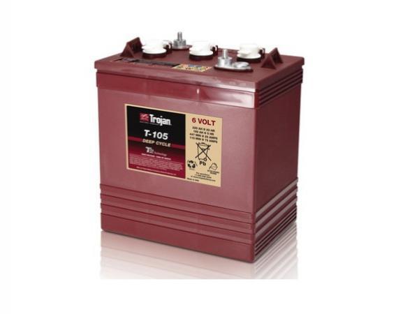 Trojan 105 - 6 Volt<br>deep cycle flooded battery