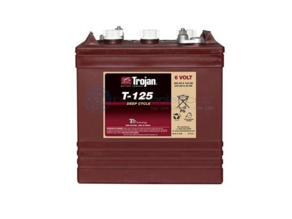 Trojan 125 - 6 Volt<br>deep cycle flooded battery