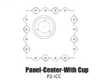 Tour Links panel interior<br>center with cup hole